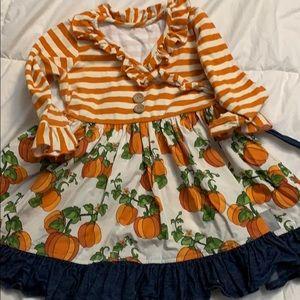 Eleanor Rose Pumpkin dress size 3/4